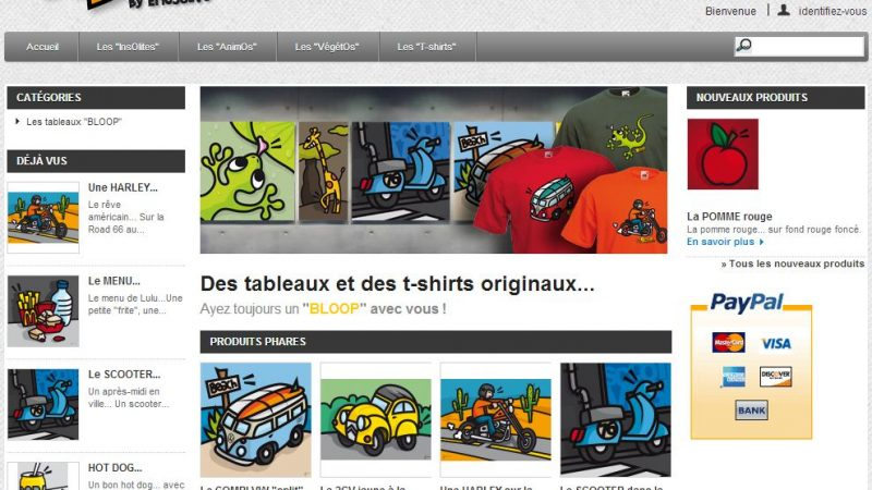 Boutique Prestashop Bloop.fr